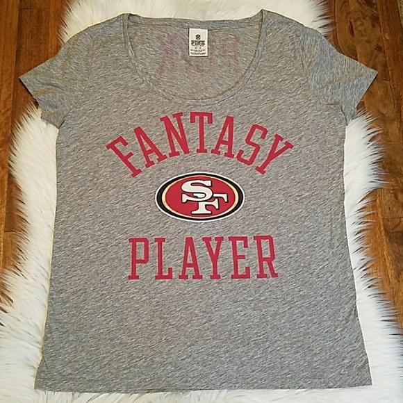 8e950e63e 💋VS Pink 49ers Fantasy Player soft Tee